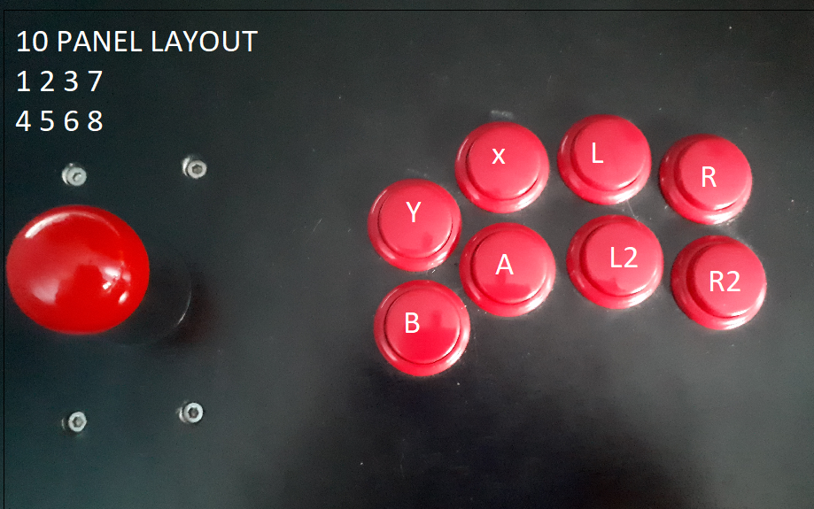 8-button mapping for arcade controls