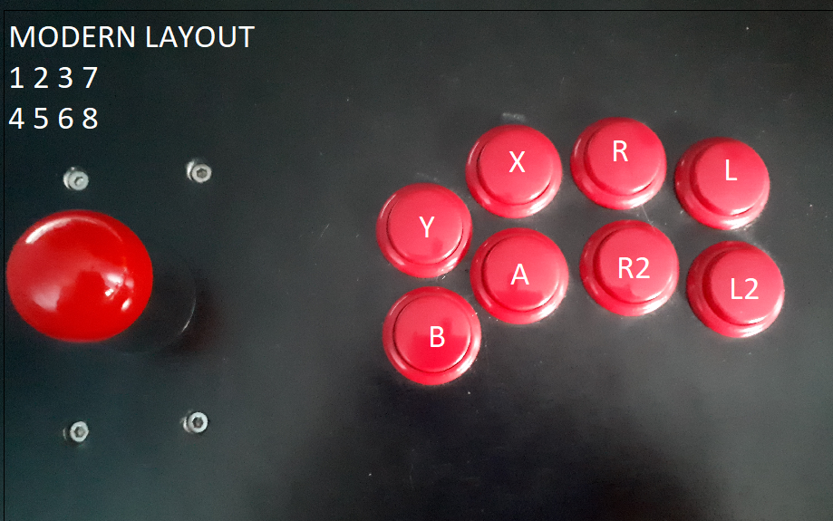 Modern Fightstick mapping for arcade controls